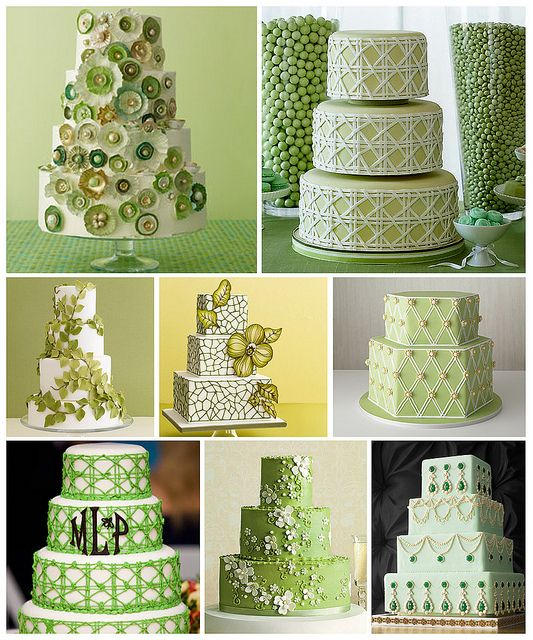 Beautiful Green Cakes
