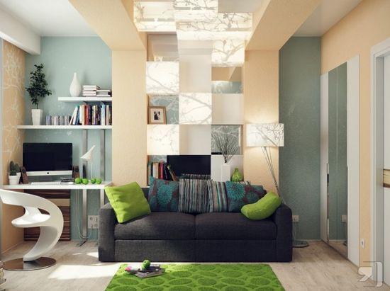 Green blue office lounge