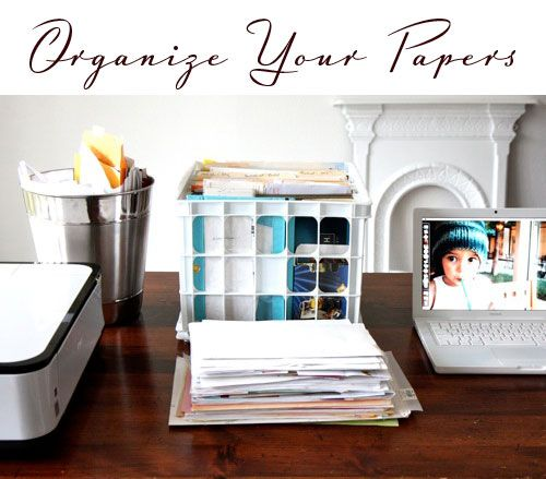 tips for ditching paper clutter