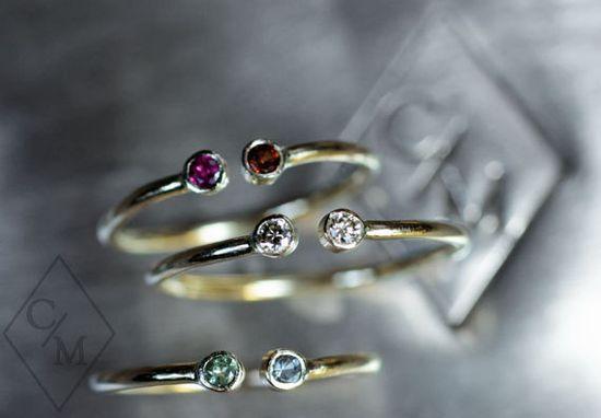 Diamond Ring - Choose your Diamonds and Gemstone - Custom Birthstone Ring - 14k yellow gold band - Personalized Diamond Ring