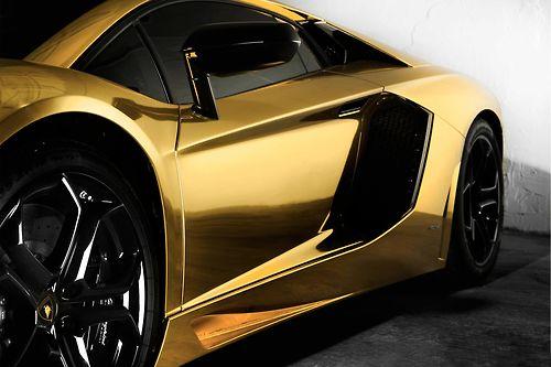 Gold Plated Lamborghini Aventador
