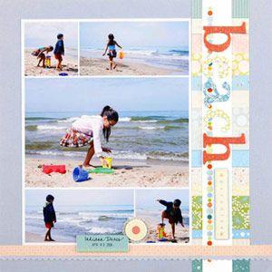 "pretty ""beach theme"" scrapbook page"