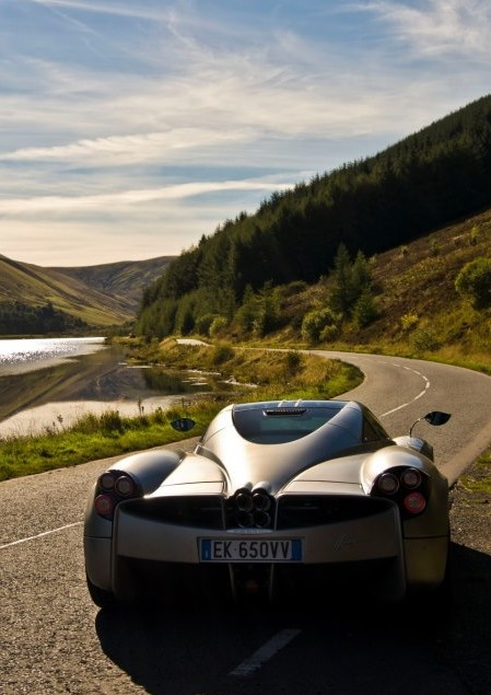 Pagani Huayra lost in the wilderness. Click on this beauty to win an life changing supercar driving experience!