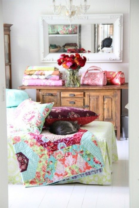 pretty quilts and pillows