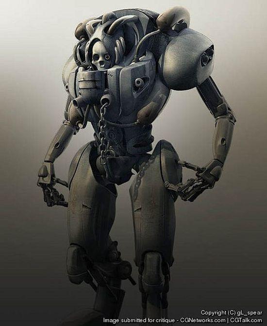 25 Futuristic 3D Robot Character designs