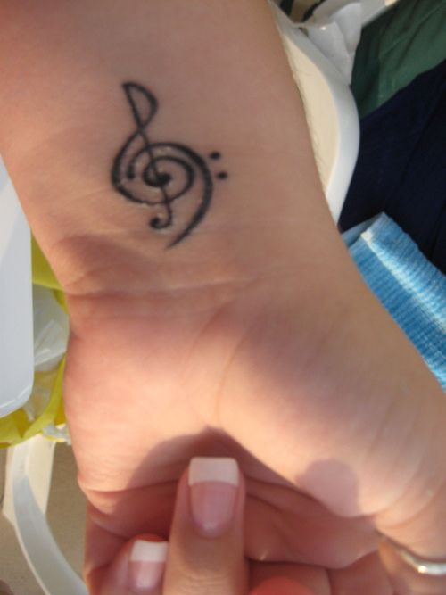 Treble and Bass Clef Tattoo