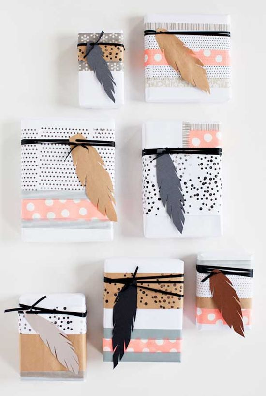 Creative gift wrapping ideas, love this combination for a bridal party!