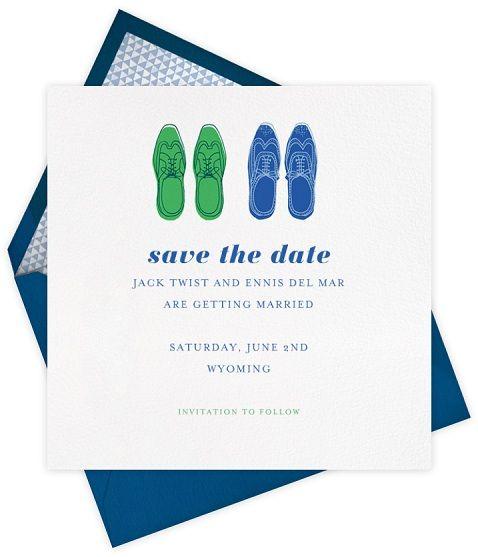 #same-sex wedding #stationery by @Paperless Post! #gay #wedding #savethedate