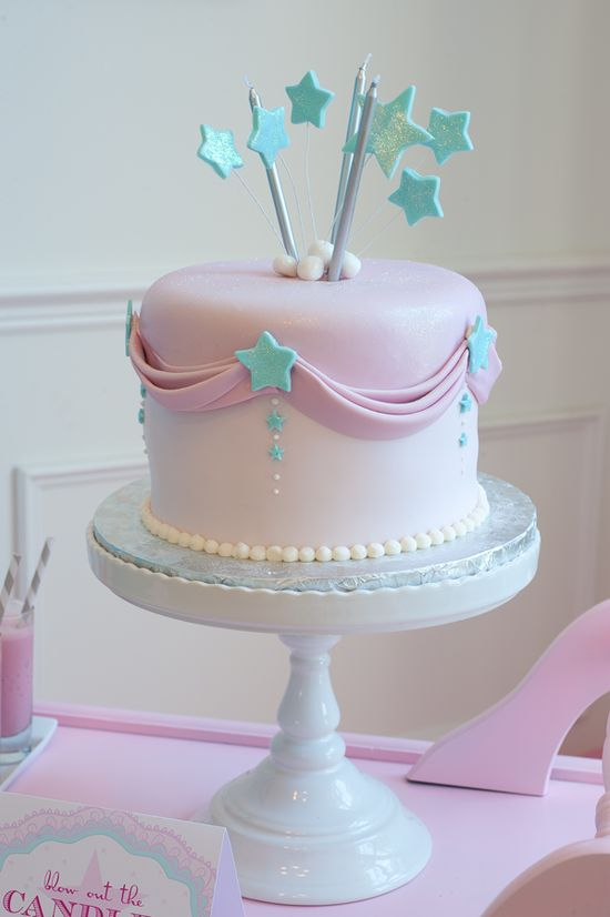 Love this cake at a Make A Wish, Star Birthday Party - Kara's Party Ideas - The Place for All Things Party #cake #makeawish #partyideas