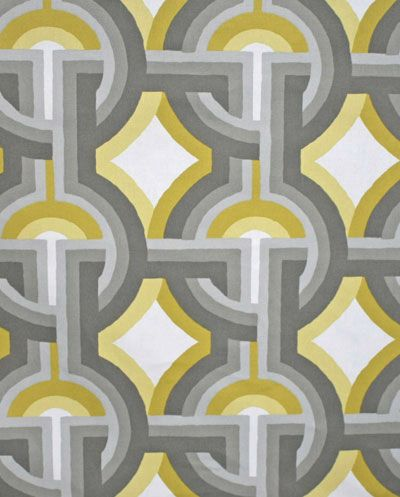 grey and yellow gold magic. #fabric #deco #geometric #drapery #curtains #cotton # @DwellStudio #decor #interiors #decorating