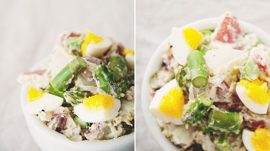 chopped asparagus potato salad
