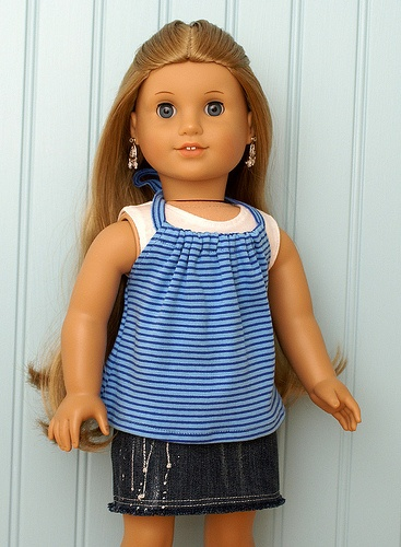 American Girl Doll Clothes-Striped Halter Set