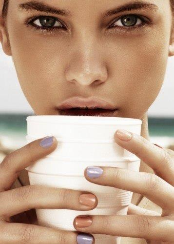 Mixed pastel  nail polish