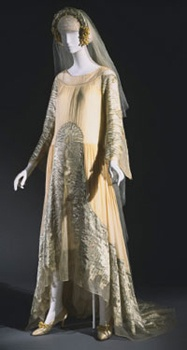 Wedding Ensemble - 1925 - by Jeanne Lanvin (French, 1867-1946) - Dress, Slip, and Headpiece