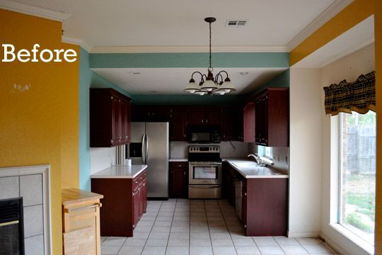 Before & After: $28 Kitchen Backsplash Makeover A Lease to Decorate