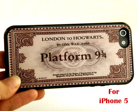 Ticket to Hogwarts iPhone cover.