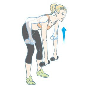 Bent-Over Wide Row: Do as many as you can in one minute, then move on to the next exercise in THIS cardio weightlifting workout:  www.womenshealthm...