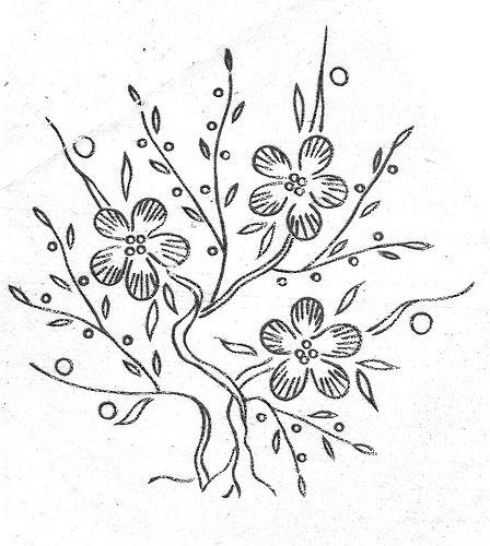 flower bush (hand embroidery pattern/transfer)