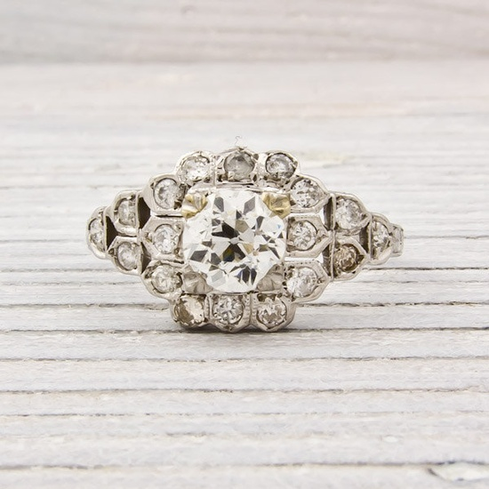 Antique 70 Carat Diamond Engagement Ring by ErstwhileJewelry, $4,300.00