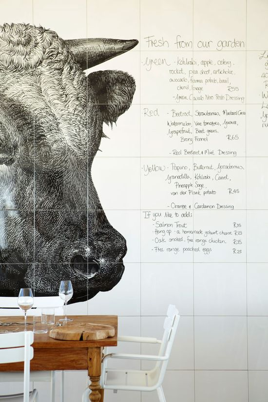 daily menu at babel restaurant, south africa