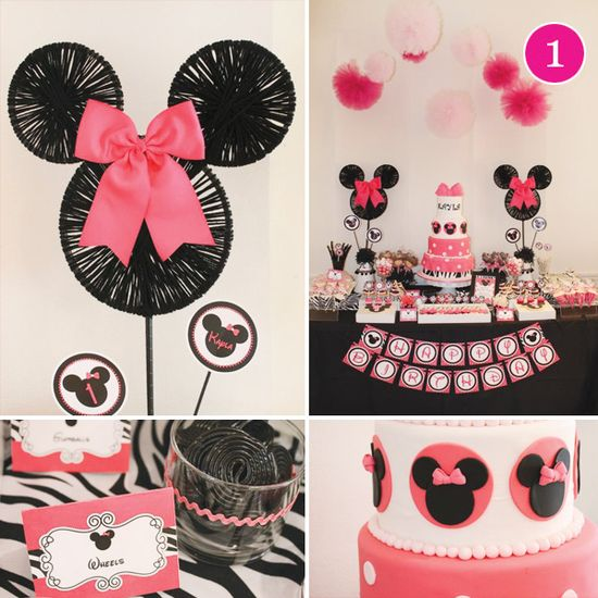 A Minnie Mouse + Zebra Party on our weekly Party of 5 picks!