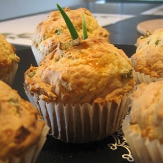 Scallion Cheddar Cheese Savory Cupcakes