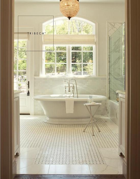 luxe white bathroom by Walker Zanger