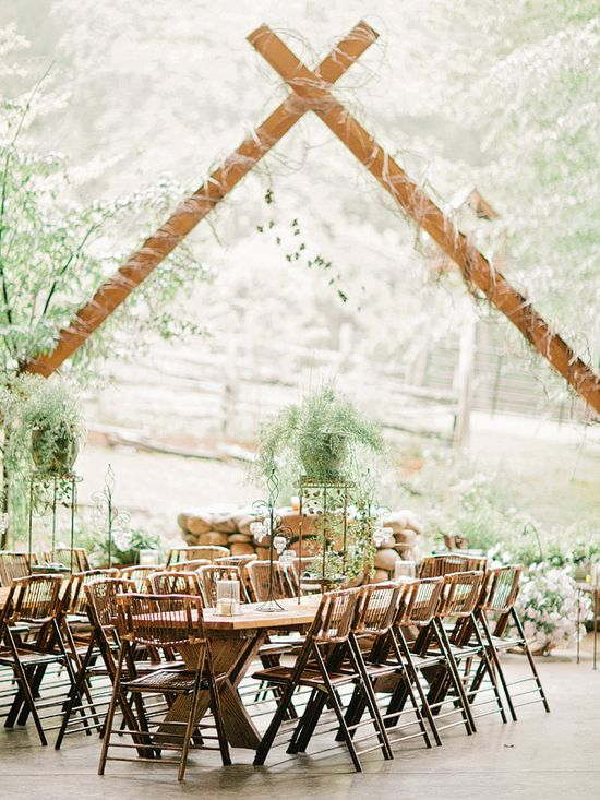 reception decor at Neverland Farms