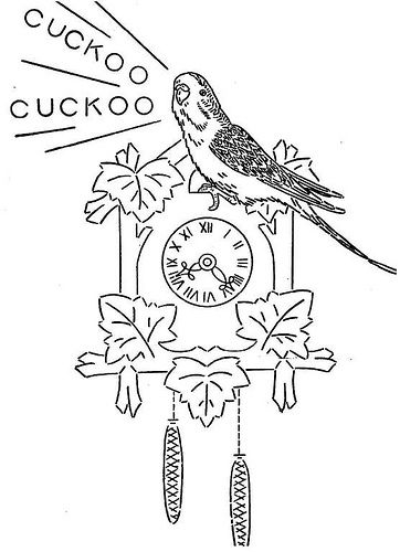 Hank the Parakeet vintage embroidery pattern