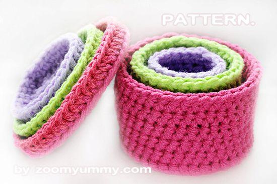 Crochet Pattern Crochet Boxes por ZoomYummy en Etsy