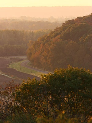 Kansas: Glacial Hills Scenic Byway four-state overlook