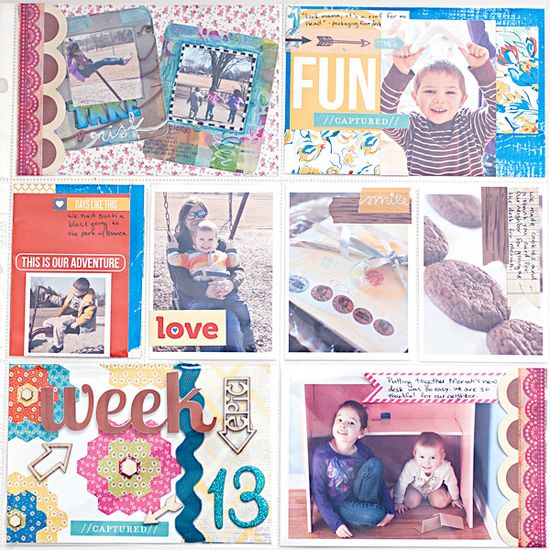 Project Life 2013 - Week 13 - right - Scrapbook.com