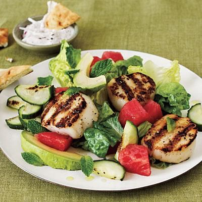 Grilled Scallop Salad | CookingLight.com