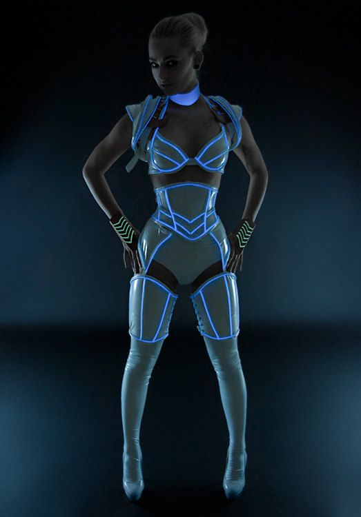 Tron-inspired cosplay - avec du fil LED