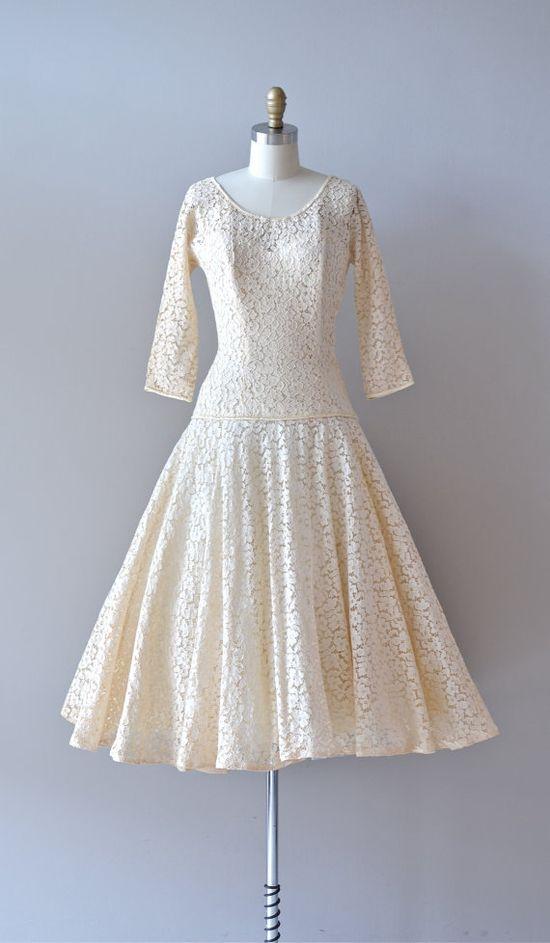 vintage 1950s Always & Forever     #vintagewedding #1950s #lace #vintagedress