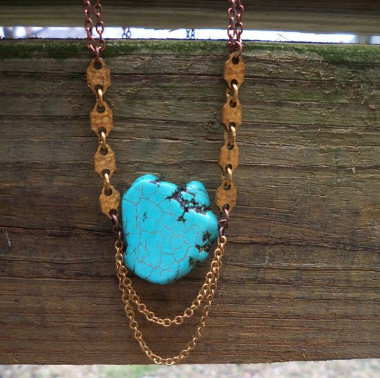 turquoise jewelry / turquoise / turquoise necklace by poorsparrow