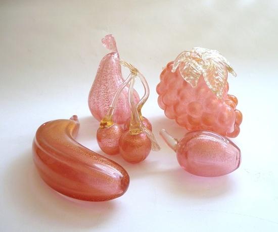 Barovier and Toso Aventurine Glass Fruit from mascarajones
