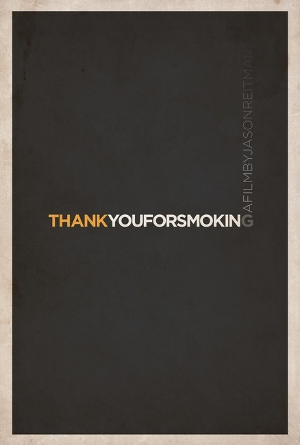 Thank You For Smoking - minimalist movie poster illustration by matt owen
