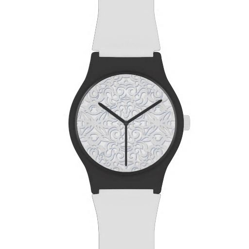 Watch Damask Style Inspiration  #Watch #Damask #baroque #medusa81 #decoration #floral #retro #vintage #white www.zazzle.com/...