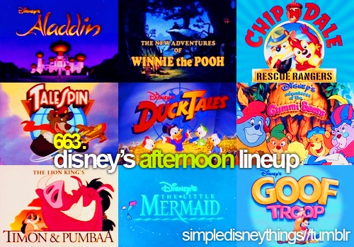 Disney afternoon lineup. I would watch this after school in one of my mom's teacher friend's classroom. Not as good as Nickelodeon, but still entertaining!
