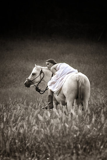 girl/horse - pose idea - school assignment.