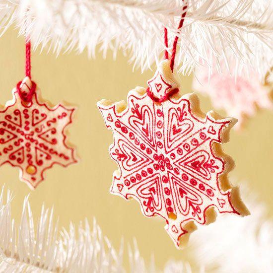 Salt-Dough Christmas Tree Ornaments