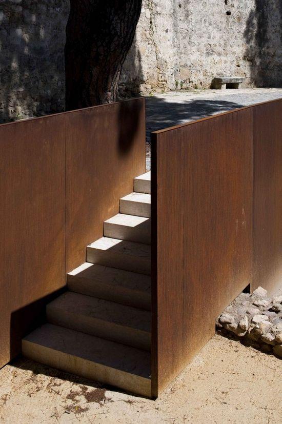 Stairs corten steel