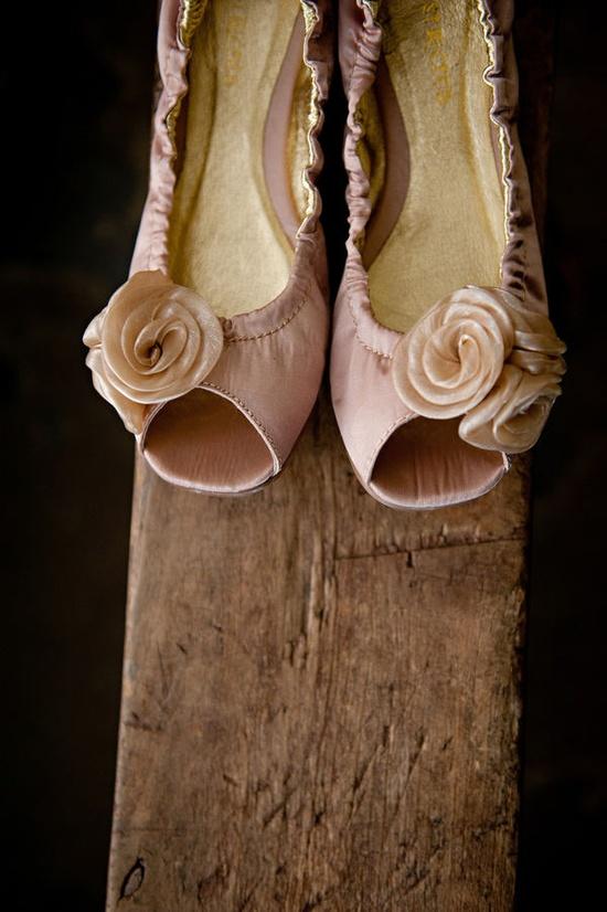 Cute peach shoes