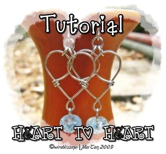 Cute heart earrings