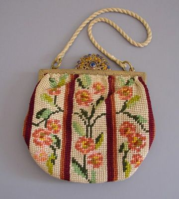 Another needlepoint purse.