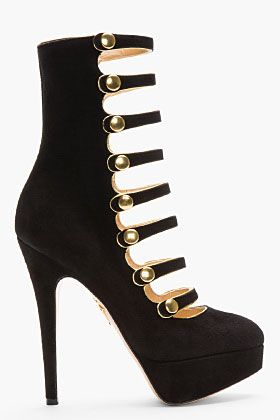 Black Suede Buttoned Hermione Mary Jane Heels
