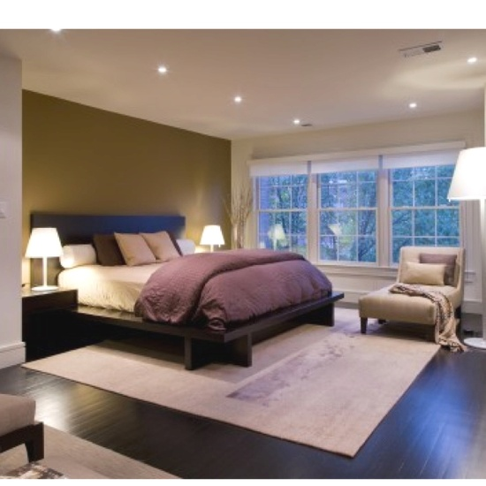 Green & Purple Modern Bedroom - if your bedroom is in the wealth area these colors work great!