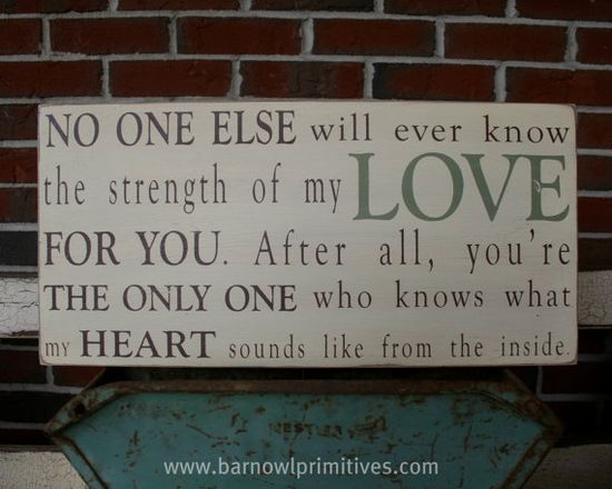 Strength+of+My+Love+Typography+Word+Art+Sign++by+barnowlprimitives,+$90.00