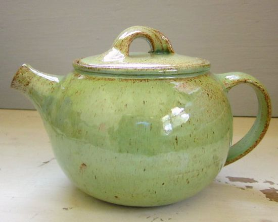 Green Teapot by JD Wolfe Pottery